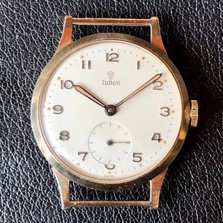 Tudor - 9金無垢 TUDOR 小バラ 全数字 手巻腕時計 アンティーク