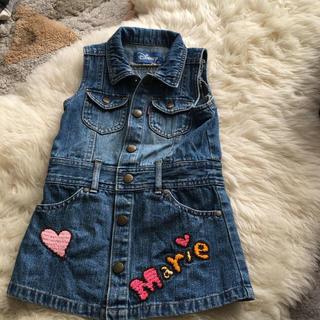 ディズニー ミニーちゃん 女児 95 デニムワンピース ジャンパースカート(ワンピース)