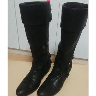 オゥバニスター(AU BANNISTER)のロングブーツ 黒(ブーツ)