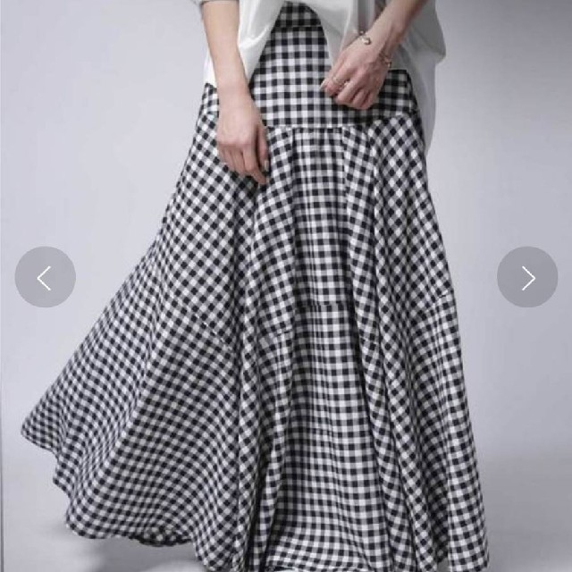 antiqua(アンティカ)の新品タグ付き!アンティカギンガムチェックスカート レディースのスカート(ロングスカート)の商品写真