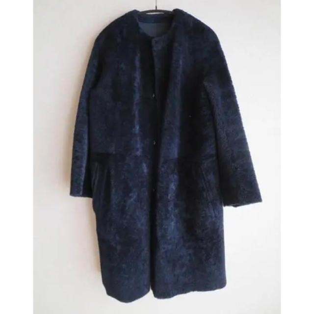 Drawer(ドゥロワー)のDrawer ムートン コート レザー 定番 レディースのジャケット/アウター(ムートンコート)の商品写真
