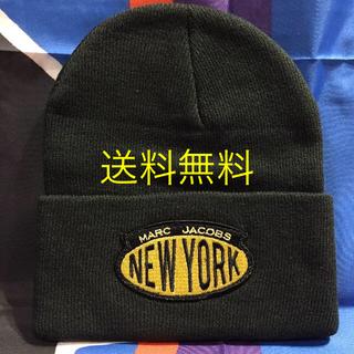 マークジェイコブス(MARC JACOBS)の送料無料 MARC JACOBS NEW YORK ニットキャップ ビーニー(ニット帽/ビーニー)