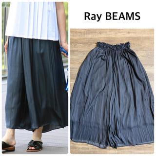 Ray BEAMS - 【Ray BEAMS】サテン ギャザー フレア パンツ