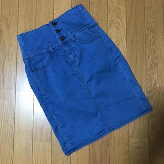 GU - GU☆ハイウエスト デニムタイトスカート S