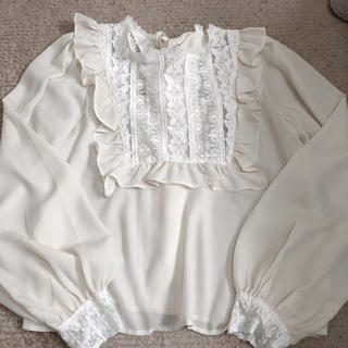 one after another NICE CLAUP - petite by niceclaup   2way frill blouse