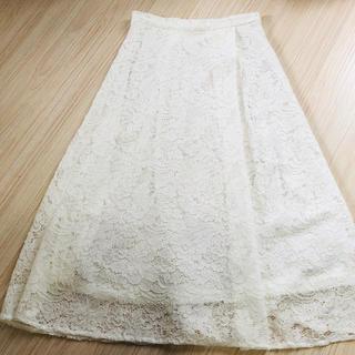 GU - GU 白レーススカート Aライン Mサイズ