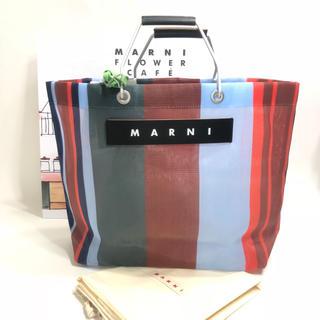 Marni - 新品 MARNI マルニ フラワーカフェ ラッカーレッド トートバッグ メッシュ