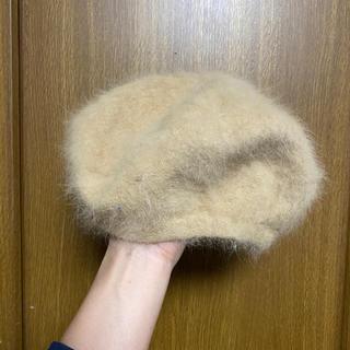 レイビームス(Ray BEAMS)のRay beams アンゴラ混 ニットベレー帽 ベージュ(ハンチング/ベレー帽)