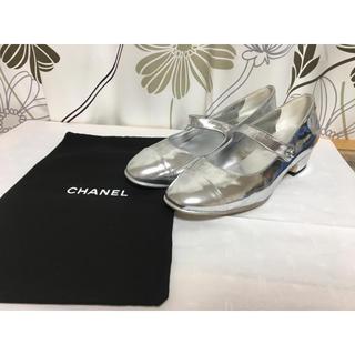 シャネル(CHANEL)のシャネル CHANEL メリージェーン バレリーナシューズ シルバー 38C (ハイヒール/パンプス)