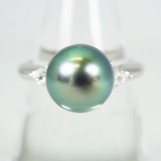 タサキ(TASAKI)のTASAKI/タサキ Pt900 南洋黒蝶真珠リング 15号 [g159-2](リング(指輪))