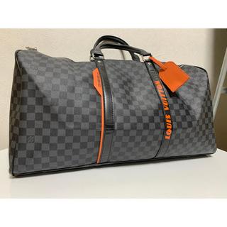 LOUIS VUITTON - ルイヴィトン ダミエコバルト×オレンジ ボストンバック 旅行バッグ