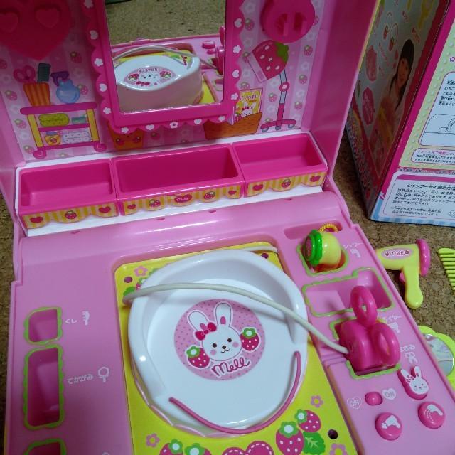 PILOT(パイロット)のメルちゃん いちごのびようしつ キッズ/ベビー/マタニティのおもちゃ(知育玩具)の商品写真