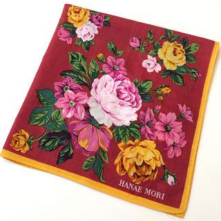 HANAE MORI - HANAE MORI💋ハンカチ 花柄 薔薇 バラ