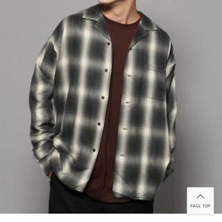 RAGEBLUE - RAGEBLUE 開襟チェックシャツ