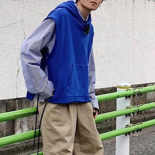 SUNSEA - Ryo Takashima  フードベスト ブルー  リョウタカシマ