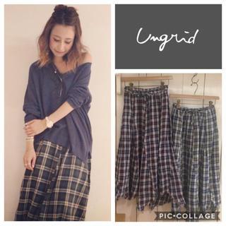 Ungrid - Ungrid**イレヘムチェックマキシスカート