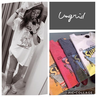 Ungrid - Ungrid**supermanプリントtee