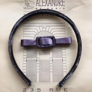 アレクサンドルドゥパリ(Alexandre de Paris)の未使用 アレクサンドルドゥパリ リボンカチューシャ サテン生地リボン ベロア生地(カチューシャ)