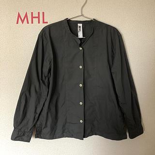 MARGARET HOWELL - MHL ノーカラー シャツ サイズ3 グレー