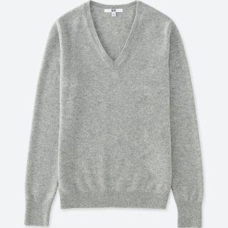 UNIQLO - UNIQLO ユニクロ カシミヤVネックセーター ニット 新品未使用タグ付き
