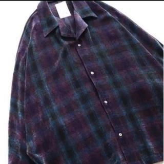 シャリーフ(SHAREEF)の2018aw shareef  モールチェック ドルマンシャツ サイズ1(シャツ)