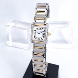 Cartier - 【OH済/保証書付】カルティエ フランセーズ コンビ ダイヤ レディース 時計