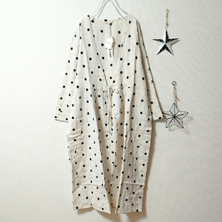 merlot - ✿Fillil✿ドット刺繍ガウンワンピース