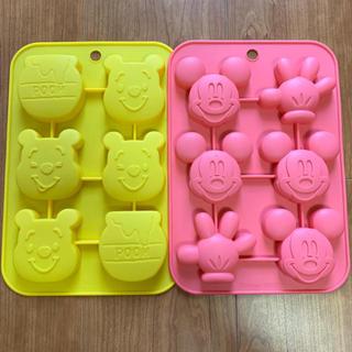 Disney - くまのプーさん、ミッキー シリコンプチケーキ型 セット