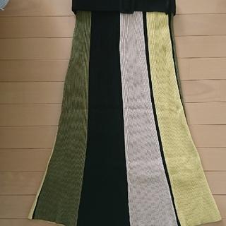 Mila Owen - milaowen ベルト付きパネルニットスカート
