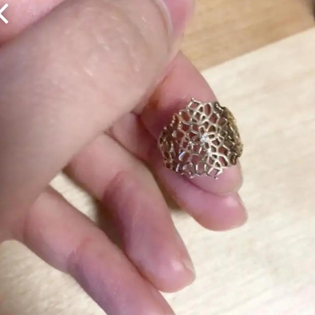 agete(アガット)のアガット k10 透かしリング レディースのアクセサリー(リング(指輪))の商品写真