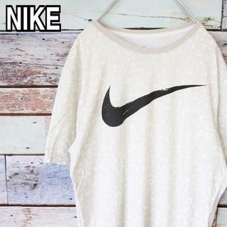 ナイキ(NIKE)のナイキ デカロゴ 総柄 Tシャツ L(Tシャツ/カットソー(半袖/袖なし))