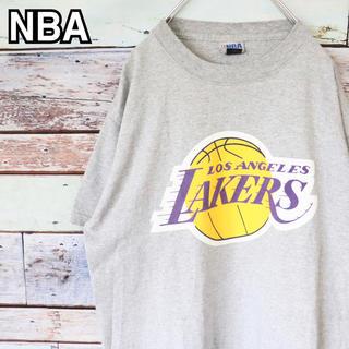 NBA レイカーズ 90s バスケ プリント Tシャツ M(Tシャツ/カットソー(半袖/袖なし))