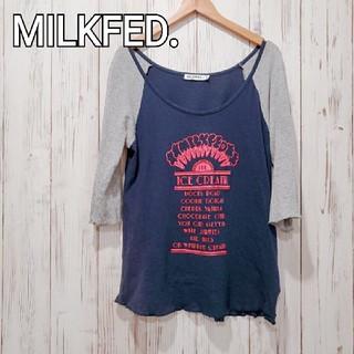 ミルクフェド(MILKFED.)のMILKFED.*アイスクリームラグランTシャツ*送料込(Tシャツ(長袖/七分))