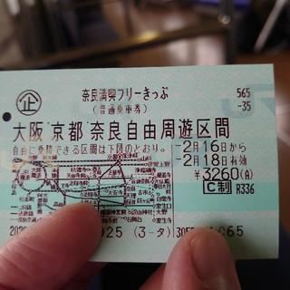 奈良満喫フリー切符