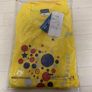 アシックス(asics)の【asics】 新品 未使用 44th青梅マラソン 速乾 Tシャツ 黄色 M(陸上競技)