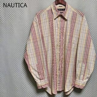 ノーティカ(NAUTICA)のノーティカ☆ボタンシャツ チェック柄 長袖 2XL マルチカラー USA 90s(シャツ)