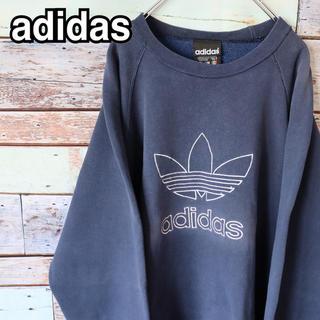 アディダス(adidas)のアディダス 90s トレフォイルロゴ 刺繍 トレーナー スウェット L(スウェット)