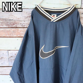 ナイキ(NIKE)のナイキ 90s 白タグ ビッグシルエット 刺繍ロゴ ナイロンジャケット XL(ナイロンジャケット)