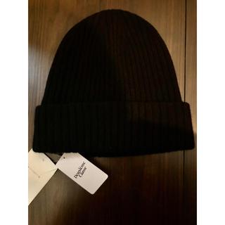 ドゥーズィエムクラス(DEUXIEME CLASSE)のchan様専用 ドゥーズィエムクラス ニット帽 ブラック 新品(ニット帽/ビーニー)