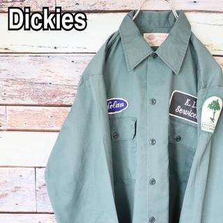 ディッキーズ(Dickies)のディッキーズ 90s オーバーサイズ ワッペン ワークシャツ M(シャツ)