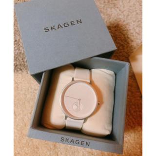 スカーゲン(SKAGEN)のスカーゲン ホワイト 腕時計 新品(腕時計)