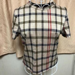 ベルシュカ(Bershka)のチェックシャツ ページュ バーバリー 風 bershka ベルシュカ(Tシャツ(半袖/袖なし))