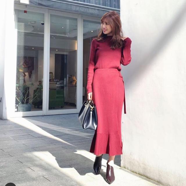 rienda(リエンダ)のリエンダ ワンピース ニットセットアップ レディースのワンピース(ひざ丈ワンピース)の商品写真