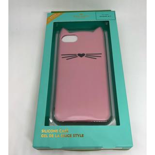 kate spade new york - ★新品未使用★ケイトスペード iPhone7&8 キャット シリコン ピンク