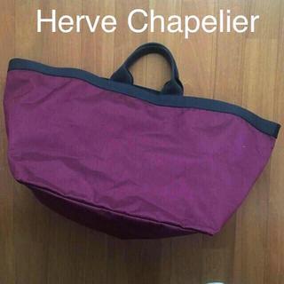 Herve Chapelier - 送料込み♡エルベシャプリエのBIGトートバッグ♡特大サイズ♡ワインカラー♡美品