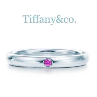 Tiffany & Co. - 送料込み♡ティファニーのリング♡ピンクサファイヤ♡シルバー♡9号♡レア物♡