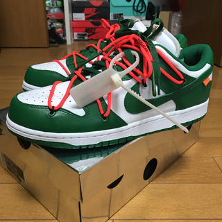 NIKE - NIKE off-white dunk low パイングリーン
