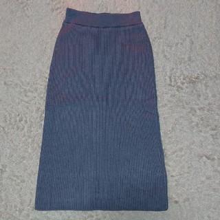 URBAN RESEARCH - UR ITEMSリブニットロングタイトスカート