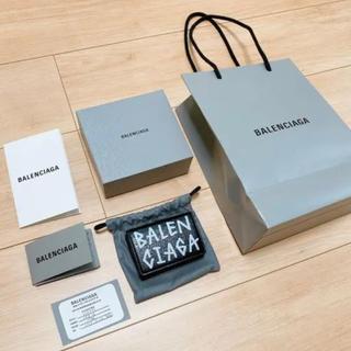 Balenciaga - BALENCIAGA ペーパー ミニ ウォレット 三つ折り財布
