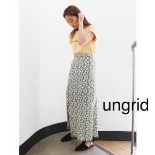 Ungrid - 【新品未使用】ungrid フラワープリントフィットマキシスカート